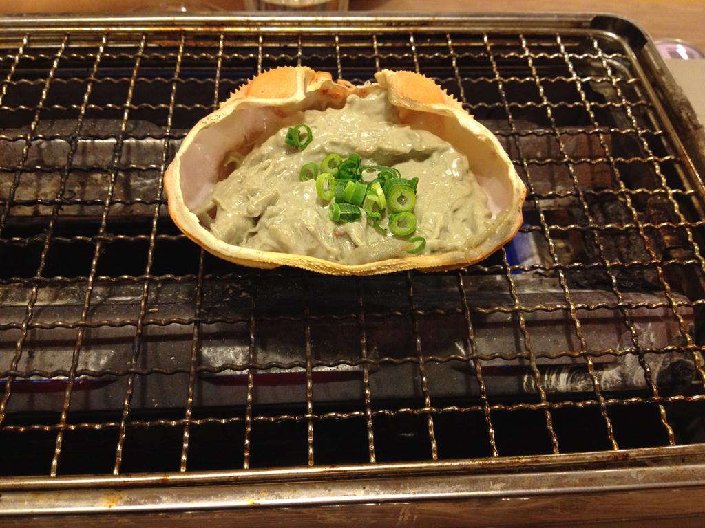 磯丸水産-蟹味噌焼き1