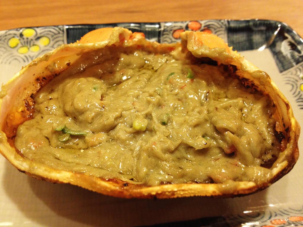 磯丸水産-蟹味噌焼き2